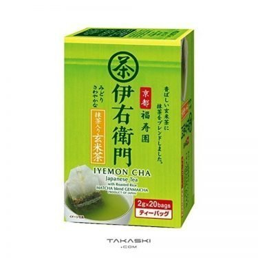 Kyoto Fukujuen Genmaicha Tea Bags with Matcha - Iyemon by Suntory 20 bags