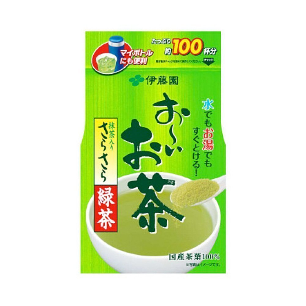 Japanese-Green-Tea-Powder-with-Matcha-80g---Itoen-Oi-Ocha-Sara-Sara-Matcha-Ryokucha