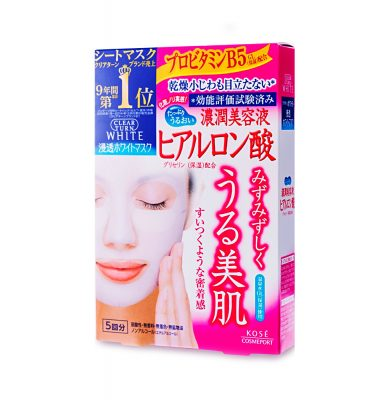KOSE Clear Turn Face Mask White Hyaluronan