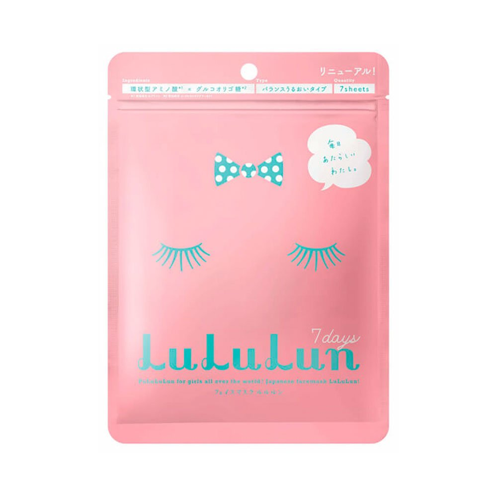 Lululun Face Mask Balance Moisture Type 7 Days Pink Made in Japan