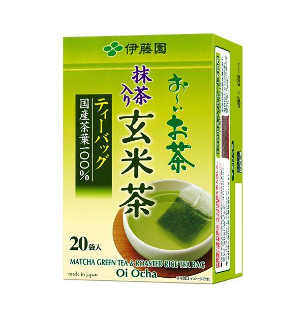 ITOEN Genmaicha Tea 20 Bags Oi Ocha Genmai with Match