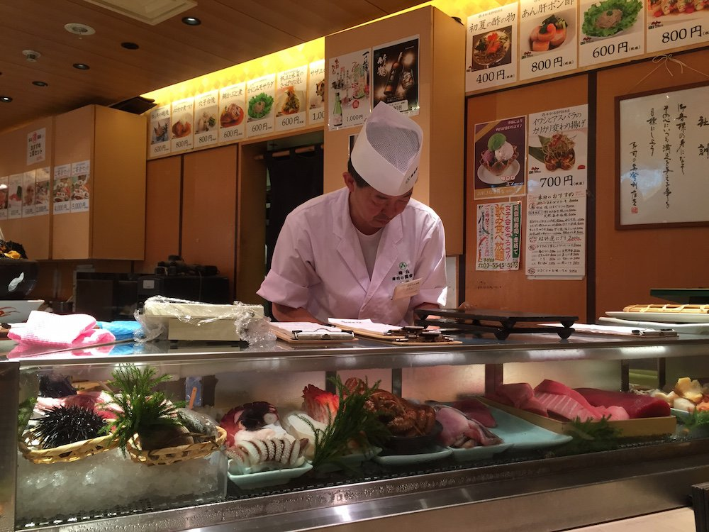 Well trained sushi chefs at Midori Zushi