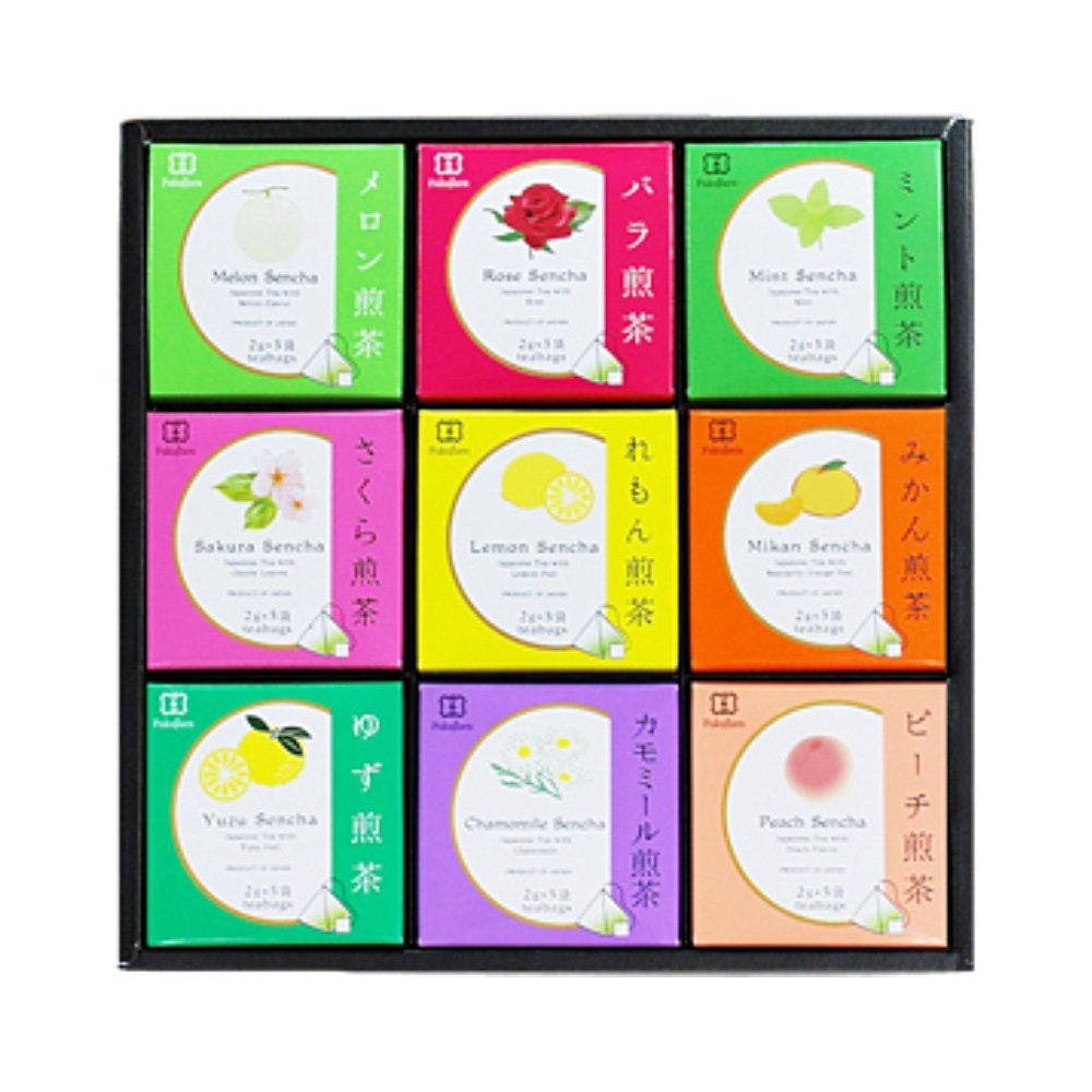Assorted box - 9 flavoured sencha green tea by Fukujuen Kyoto 2g x 5 bags x 6 boxes