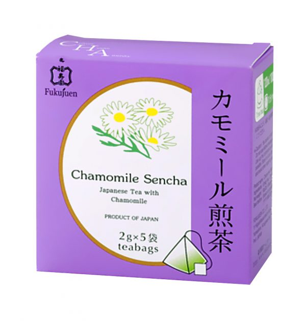 Camomile flavoured sencha green tea - Fukujuen Kyoto (2g x 5 bags)