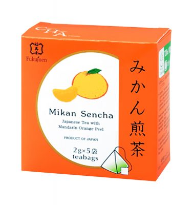 Mandarin orange flavoured sencha green tea - Fukujuen Kyoto (2g x 5 bags)