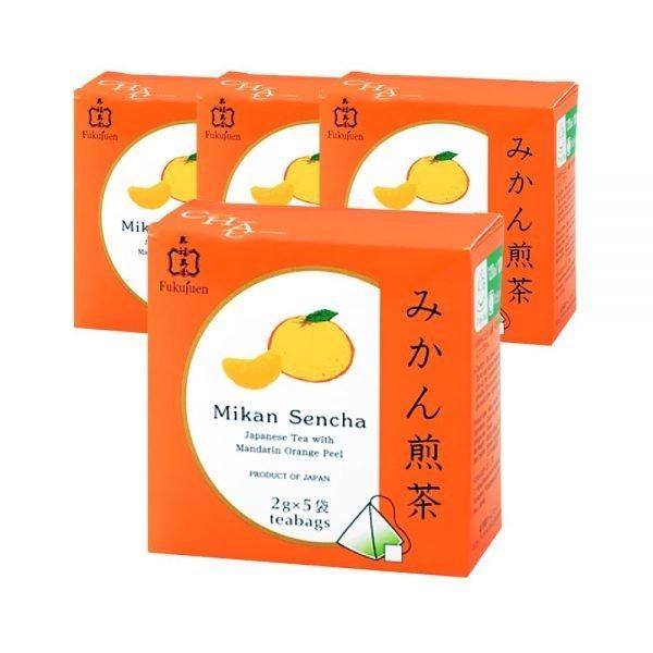 FUKUJUEN Mandarin Orange Flavoured Sencha Green Tea