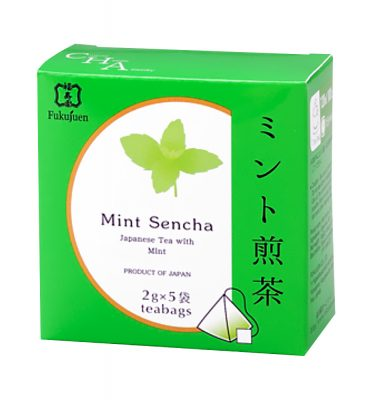 Flavoured sencha green tea - Mint tea bag (2g x 5 bags)