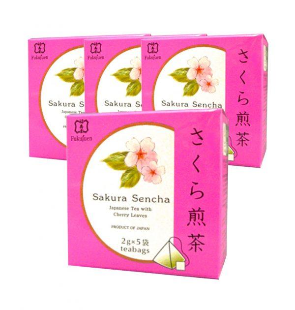 FUKUJUEN Sakura Flavoured Sencha Green Tea Made in Japan