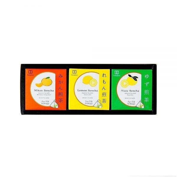 FUKUJUEN Sencha Green Tea Assorted box - 3 Flavours