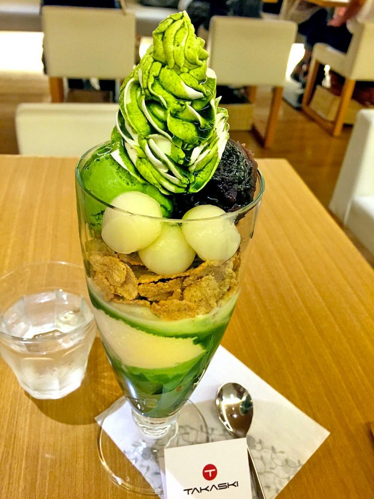 Matcha parfait at Nanaha