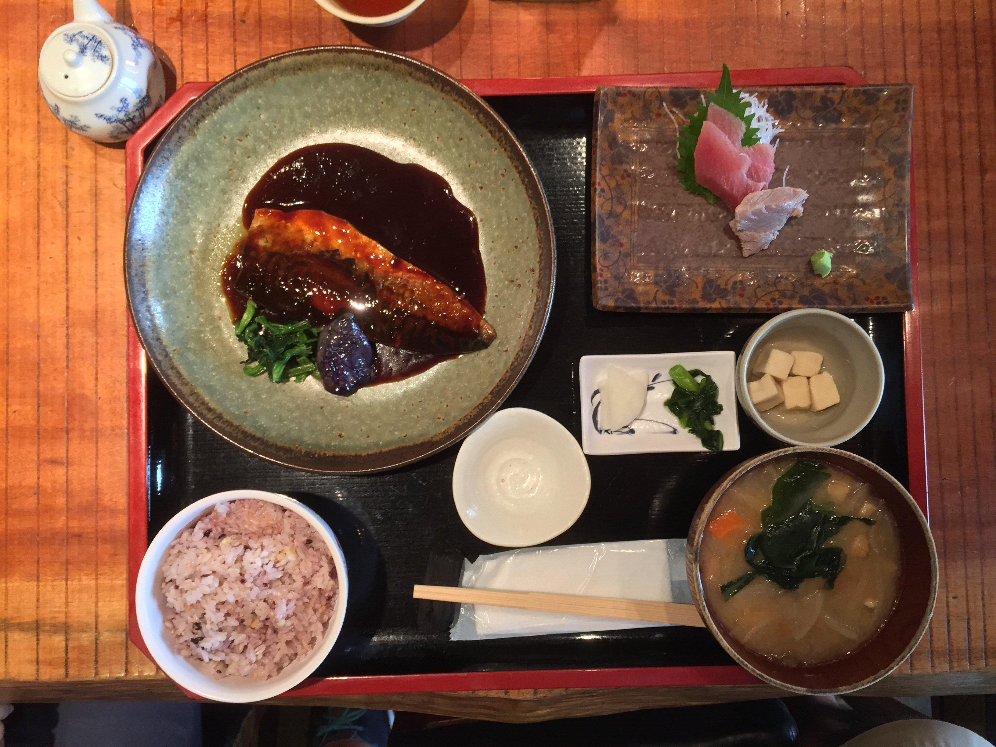 Teishoku Japanese Food Set