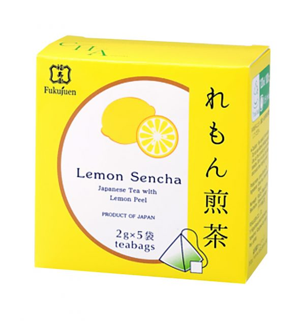 Lemon flavoured sencha green tea - Fukujuen Kyoto (2g x 5 bags)