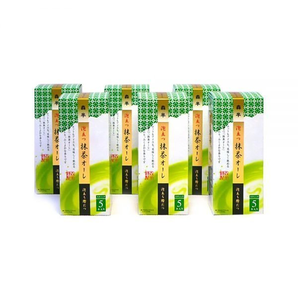 MORIHAN Creamy Matcha Au Lait Iced and Hot Instand Sticks 6 Packs