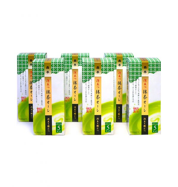 MORIHAN Creamy Matcha Au Lait Iced and Hot Instand Sticks 6 Packs