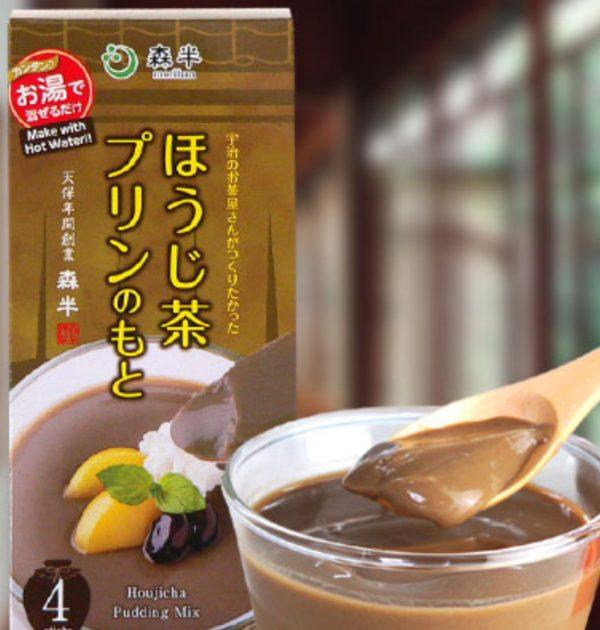 MORIHAN Hojicha Pudding Mix - Uji no Ochayasan ga Tsukuritakatta Hojicha Pudding no Moto