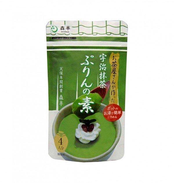 MORIHAN Uji Matcha Pudding Mix - 80g x 8 Packs