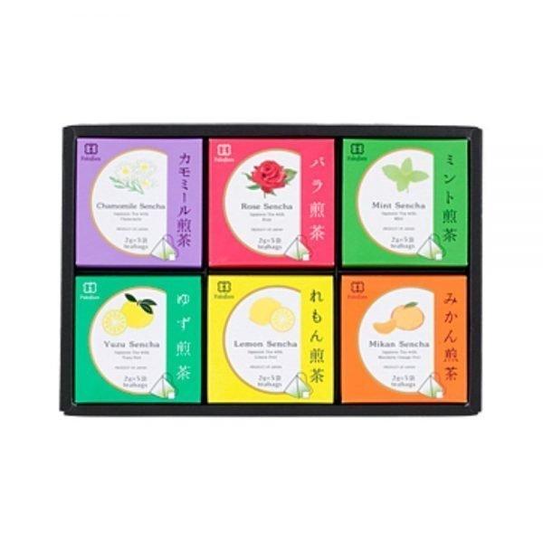 Assorted box - 6 flavoured sencha green tea by Fukujuen Kyoto 2g x 5 bags x 6 boxes
