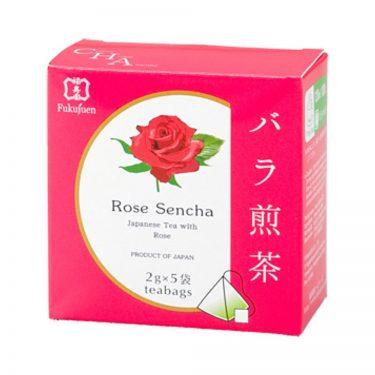 Rose flavoured sencha green tea - Fukujuen Kyoto (2g x 5 bags)