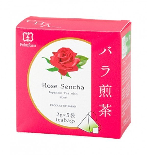 Rose flavoured sencha green tea - Fukujuen Kyoto (2g x 5 bags)