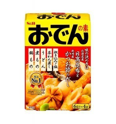 S&B Japanese Hot Pot Oden Soup Mix (6 servings x 4pcs)