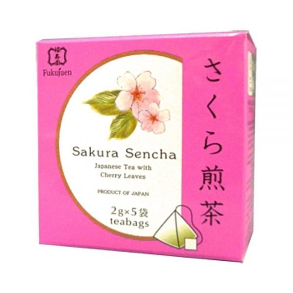Sakura flavoured sencha green tea - Fukujuen Kyoto (2g x 5 bags)