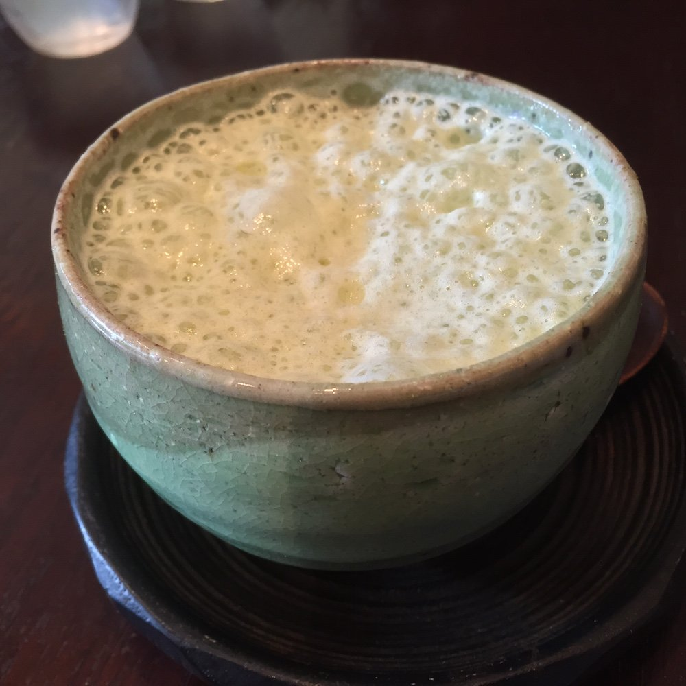 Beautiful iced matcha latte