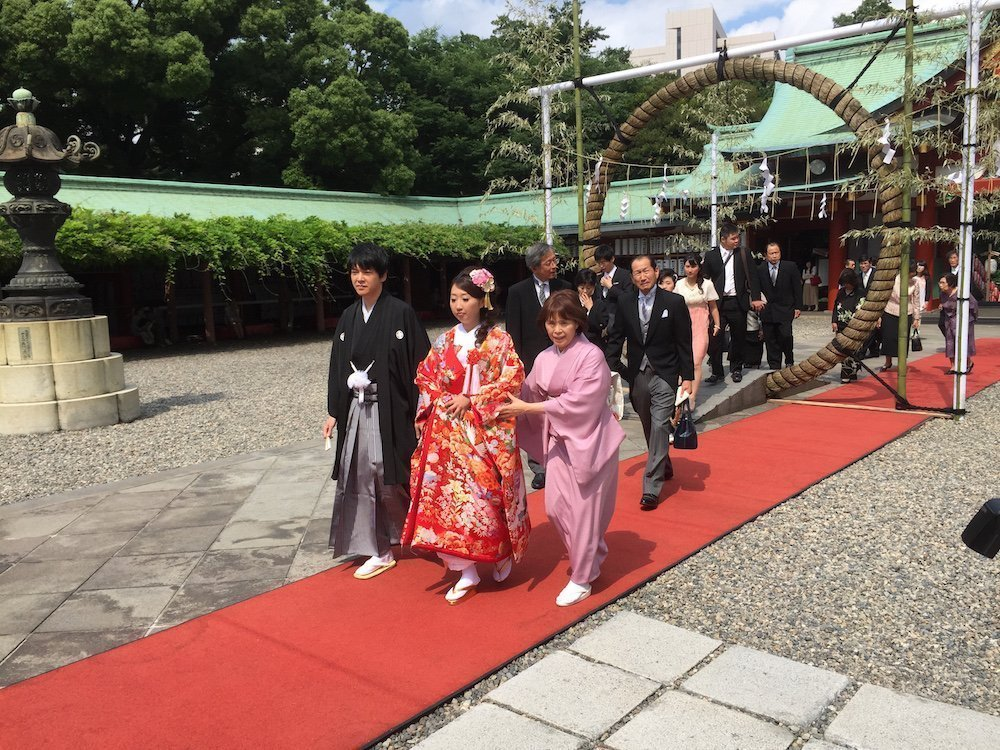 Wedding ceremony at the Hie Shrine