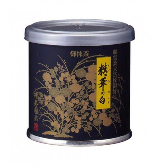 Uji matcha powder - Seikano Shiro by Fukujuen Kyoto 20g can