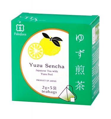 Yuzu citrus flavoured sencha green tea - Fukujuen Kyoto (2g x 5 bags)