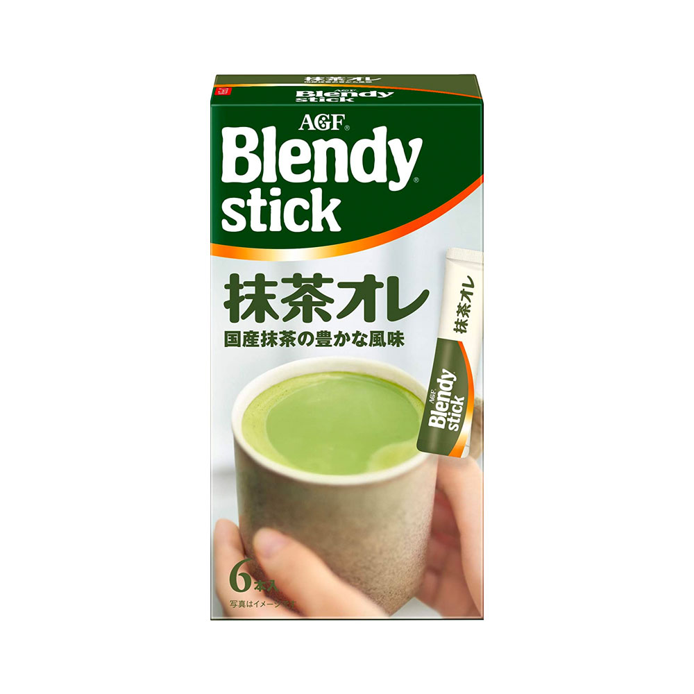 Blendy Matcha Au Lait 7 Sticks with Japanese Green Tea