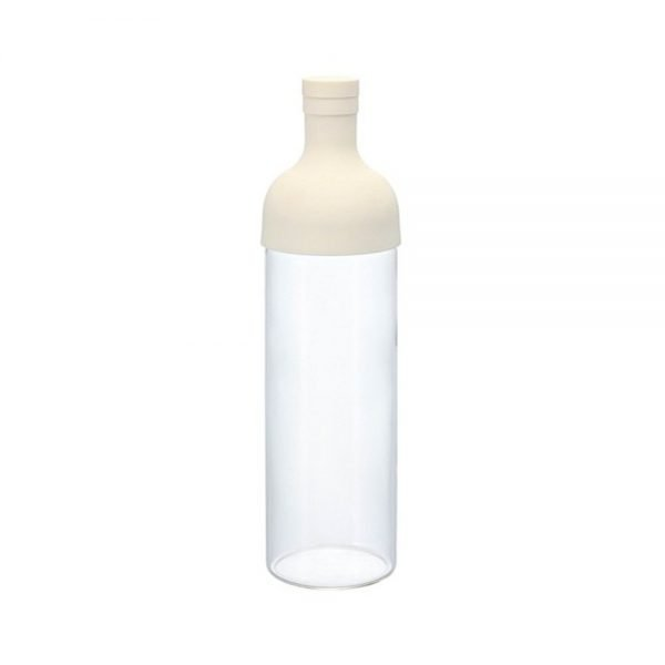 HARIO Cold Green Tea Bottle with Filter - White 750ml