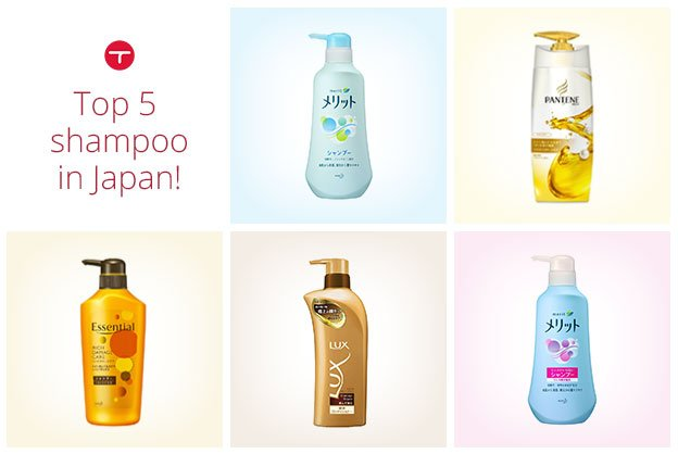 Best 5 selling shampoo in Japan