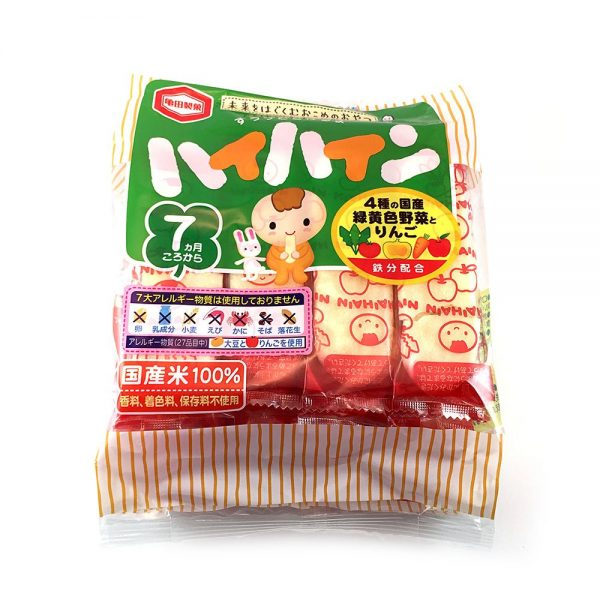 KAMEDA Hi Hin Rice Crackers for Babies - 100% Japanese Rice