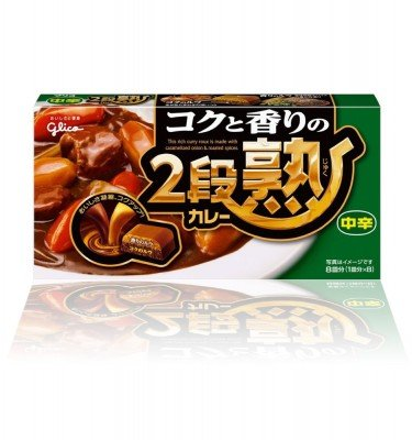 GLICO Nidanjuku Curry Sauce Mix Medium Hot 144g 8 Servings