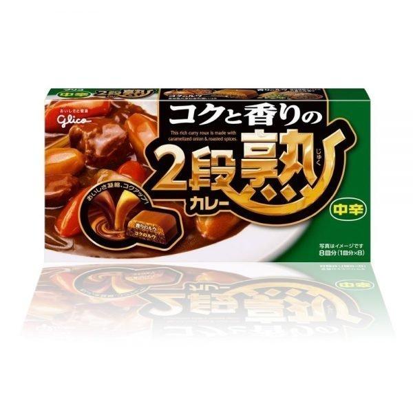 GLICO Nidanjuku Curry Sauce Mix Medium Hot 144g 8 Servings