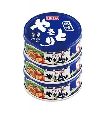 HOTEI Canned Yakitori Grilled Japanese Chicken Salty Taste Made in Japan