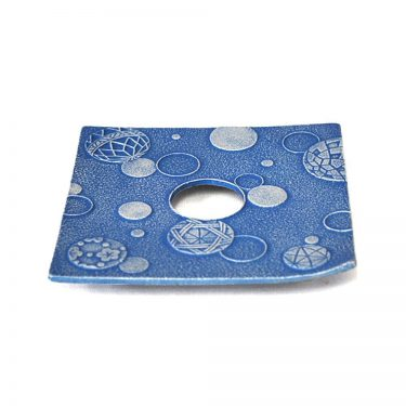 IWACHU Nanbu Cast Iron Coaster - New Series Mari Blue
