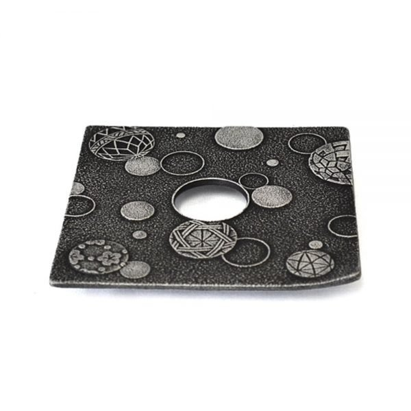 IWACHU Nanbu Cast Iron Coaster - New Series Mari Charcoal Grey