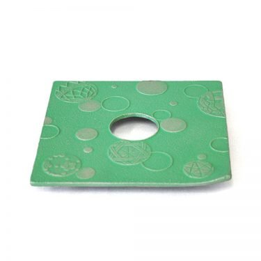 IWACHU Nanbu Cast Iron Coaster - New Series Mari Green
