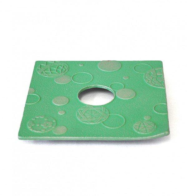 IWACHU Nanbu Cast Iron Coaster - New Series Mari Green