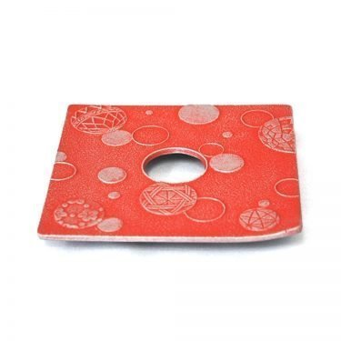 IWACHU Nanbu Cast Iron Coaster - New Series Mari Red