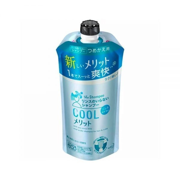 KAO Merit Rinse-in Shampoo Cool Type REFILL 380ml - Top 5 Selling Shampoo in japan