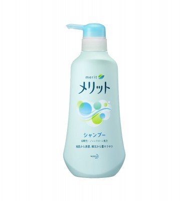 KAO Merit Shampoo 480ml - 2015 Best Selling Shampoo in Japan