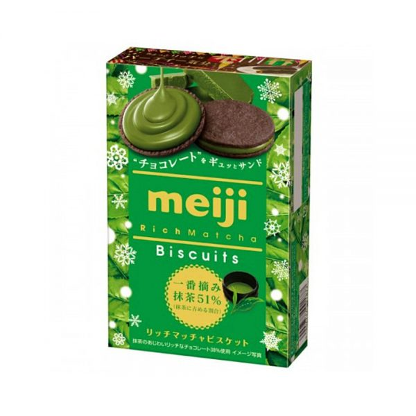 Meiji Rich Matcha Biscuits - Premium Matcha Harvest 6pcs