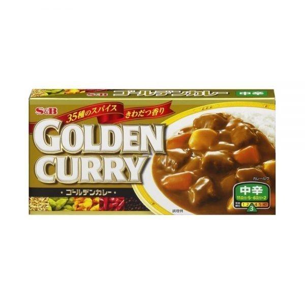 S & B Japanese Golden Curry Medium Hot 198g 11 servings