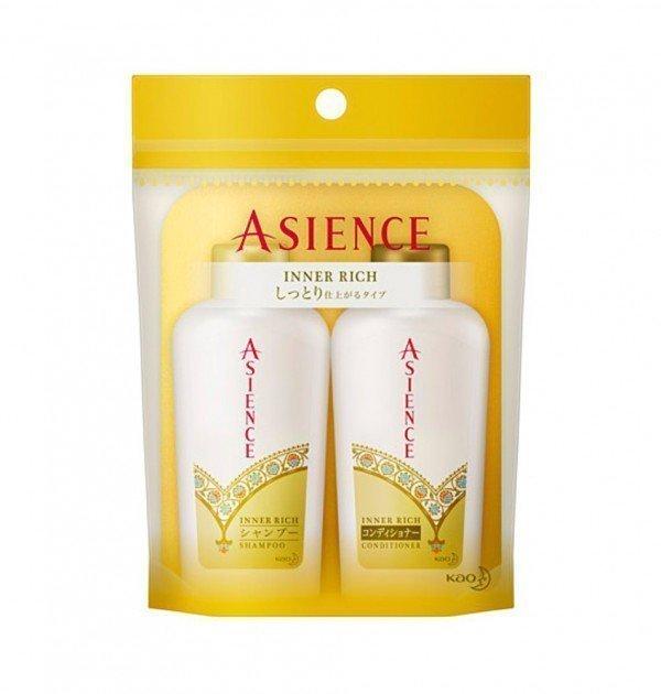 KAO Asience Inner Rich Shampoo & Conditioner Mini Set - 45ml