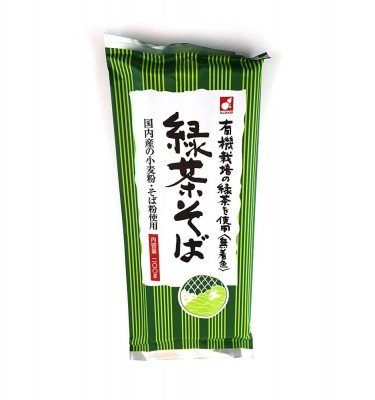 Morii Green Tea Noodles with Organic Ryokucha (color free) 200g
