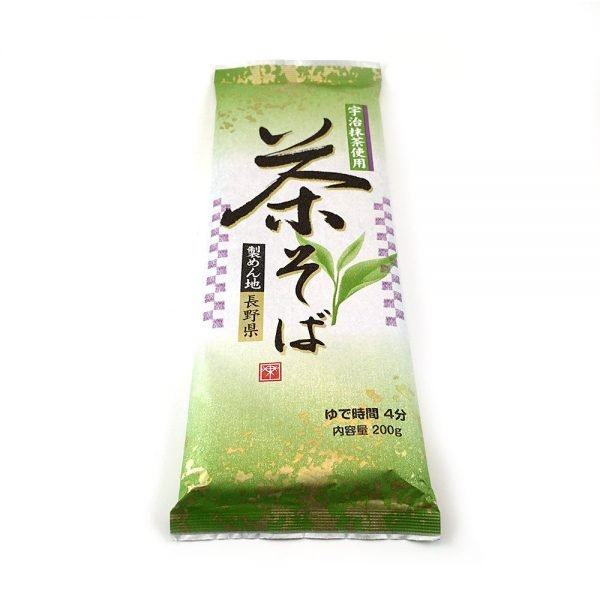 Nippn Japanese Green Tea Soba Noodles - Cha Soba with Uji Matcha 200g