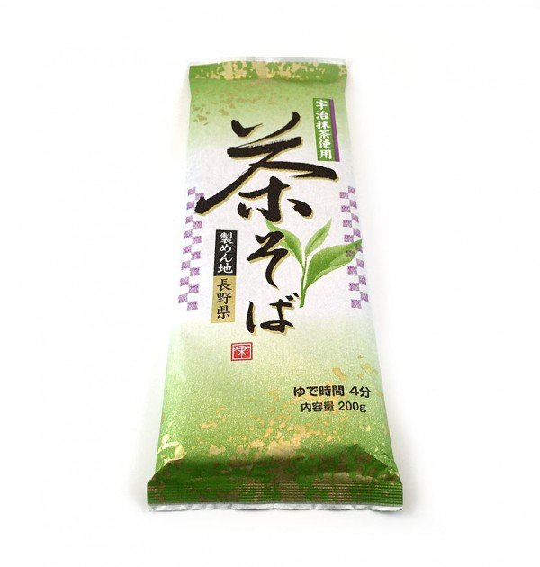 Nippn Japanese Green Tea Soba Noodles - Cha Soba with Uji Matcha 200g