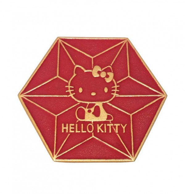 IWACHU Nanbu-Tekki Hello Kitty Teapot Coaster - Wine Red